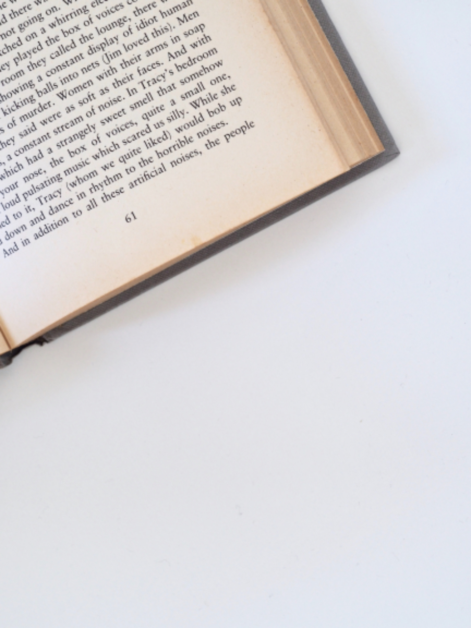 old book open words type literature learn white minimal background