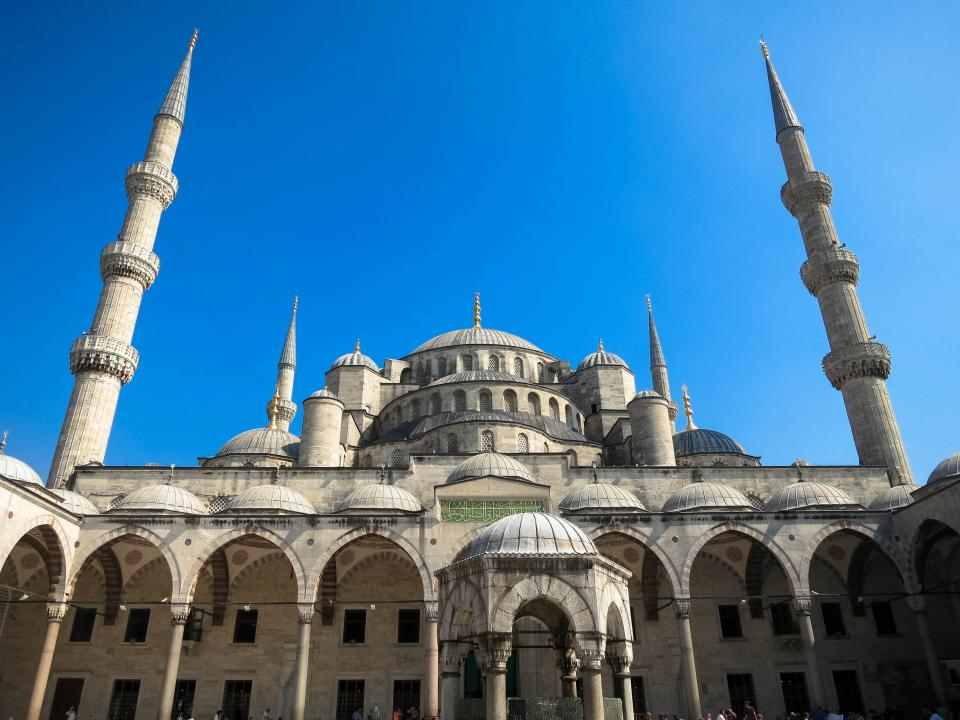 Sultan Ahmed Mosque Istanbul Turkey architecture culture blue sky