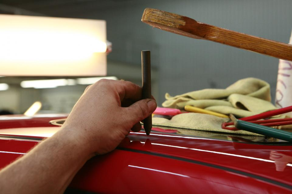 car garage workshop hands tools paint repair shop