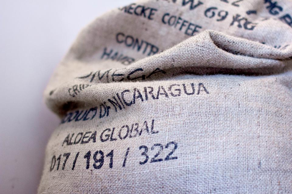 burlap sack coffee beans