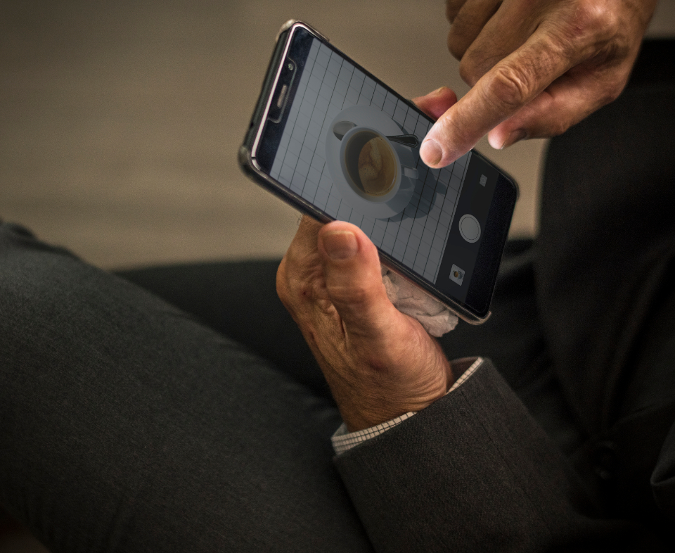 adult app business businessman communication company connection copy space design space device digital device employee executive finger gallery holding image image editor man mobile office person phone photo picture playing screen scrolling sea