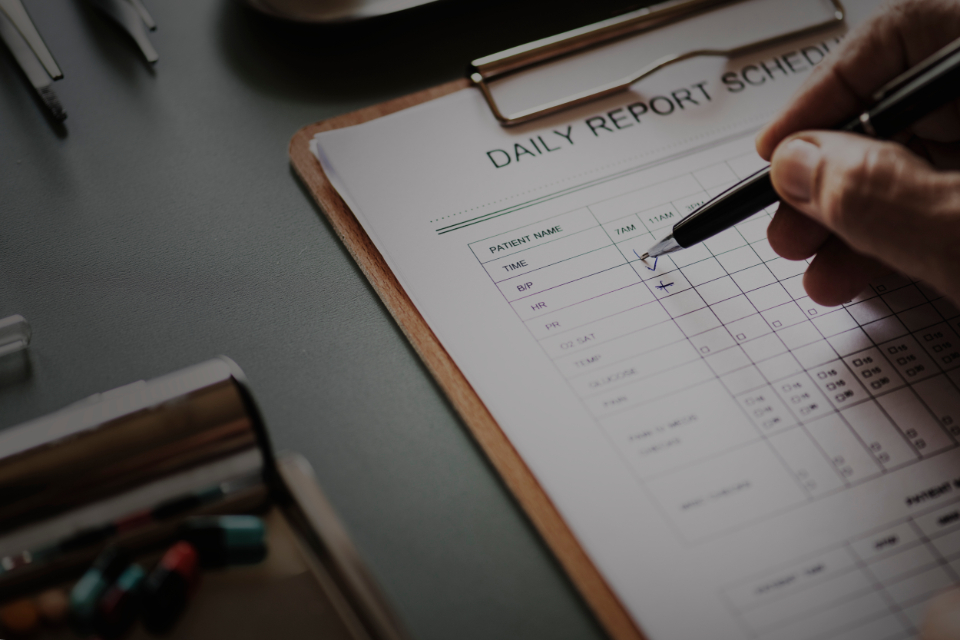 application care checking checklist clinic closeup daily report data diagnosis doctor form hand health healthcare healthy hospital illness information medical medical care medication medicine nurse paper patient pen person