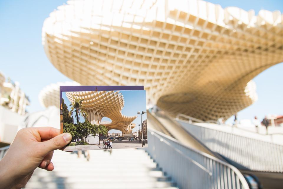metropol parasol architecture structure travel photo hand