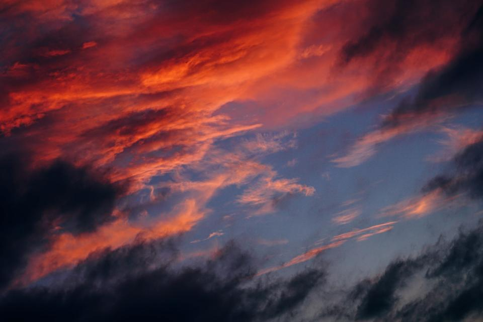 sky clouds dark sunset sunrise