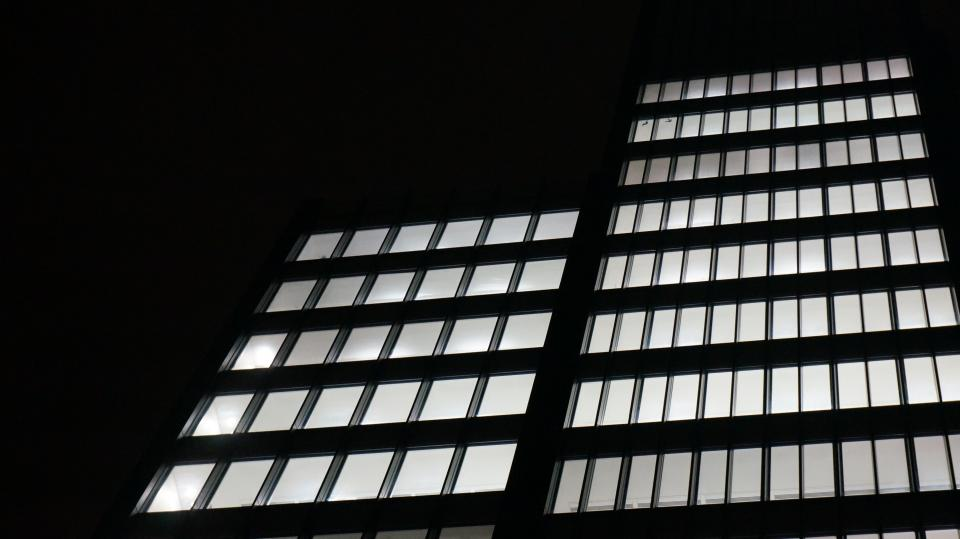 building structure infrastructure window establishment hotel city urban architecture art glass black square
