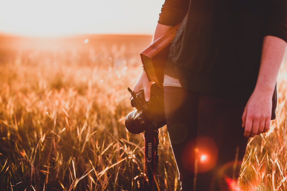 Bible photographer Christian sunset believer Christianity camera lens Canon Prairies wheat field Prairie Alberta girl woman hands lady