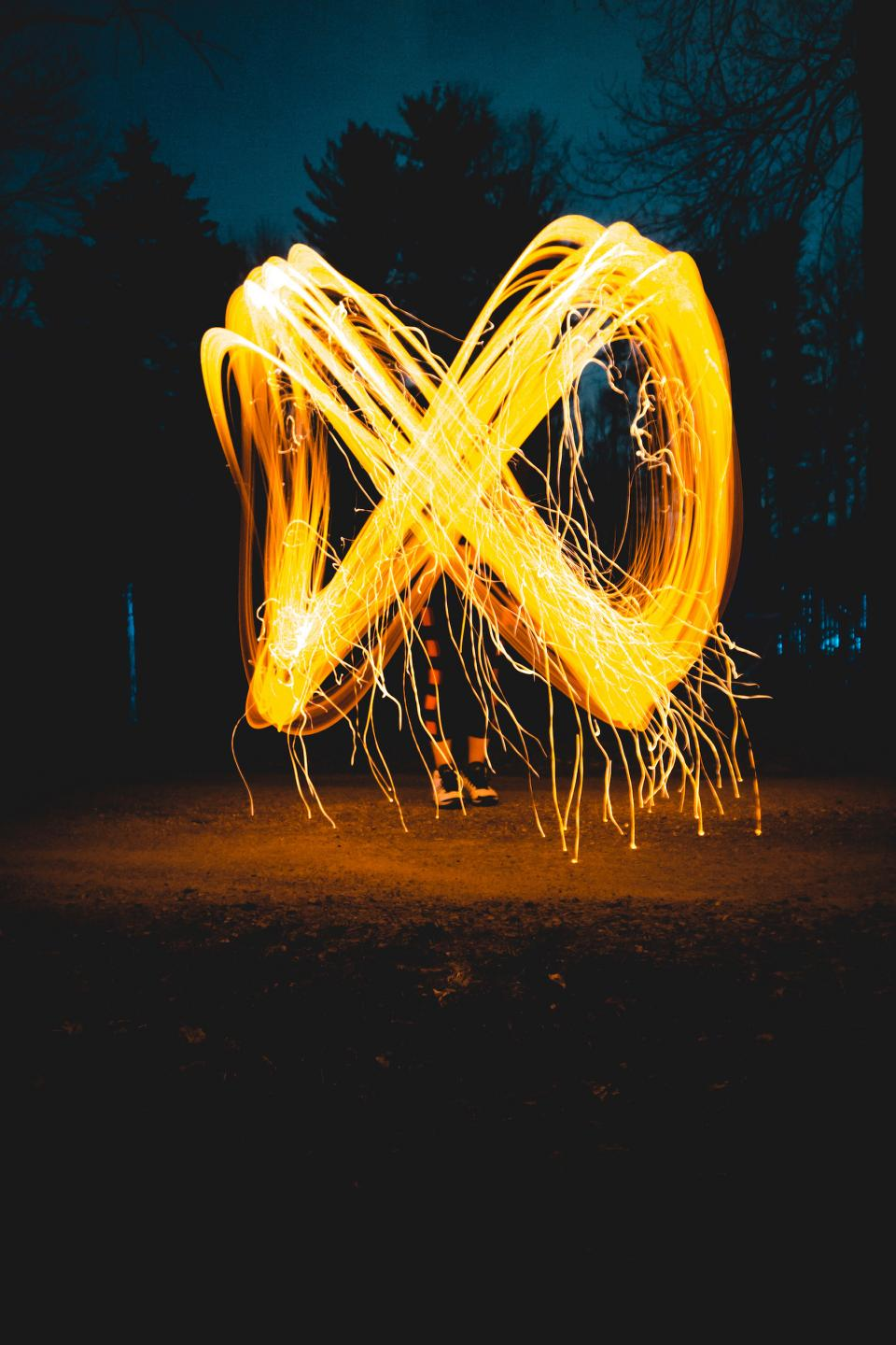 photography infinity light painting nature trees night dark people