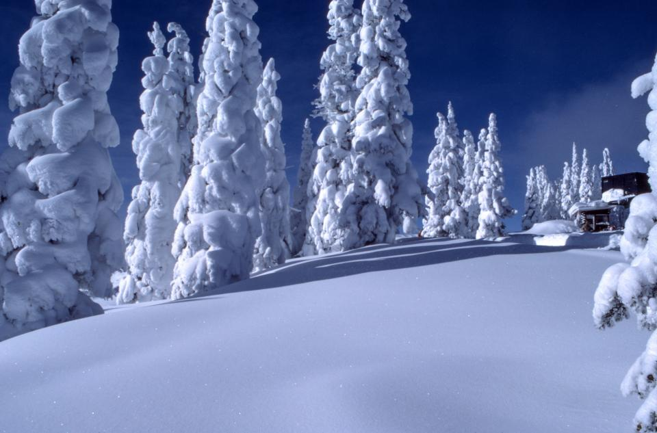 snow winter cold weather nature outdoor travel blue sky cloud
