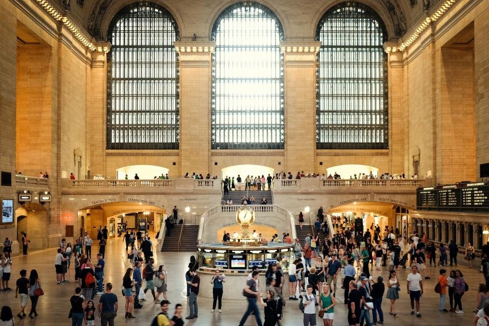 architecture building infrastructure grand central station people crowd travel landmark