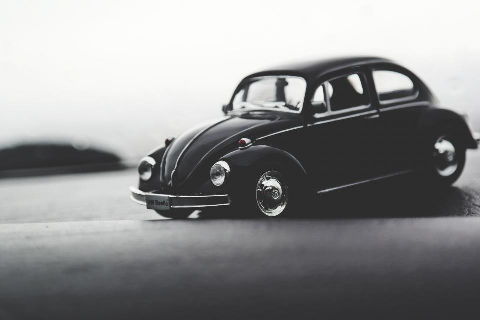 crafts hobby miniature cars still items things toys model scale wood table desk bokeh black and white
