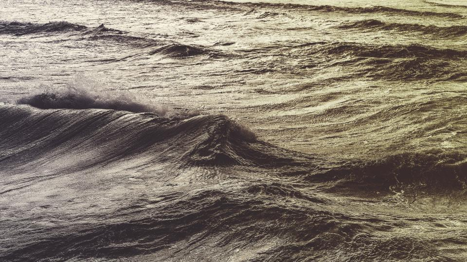 nature water ocean sea surface waves ripples splash black and white
