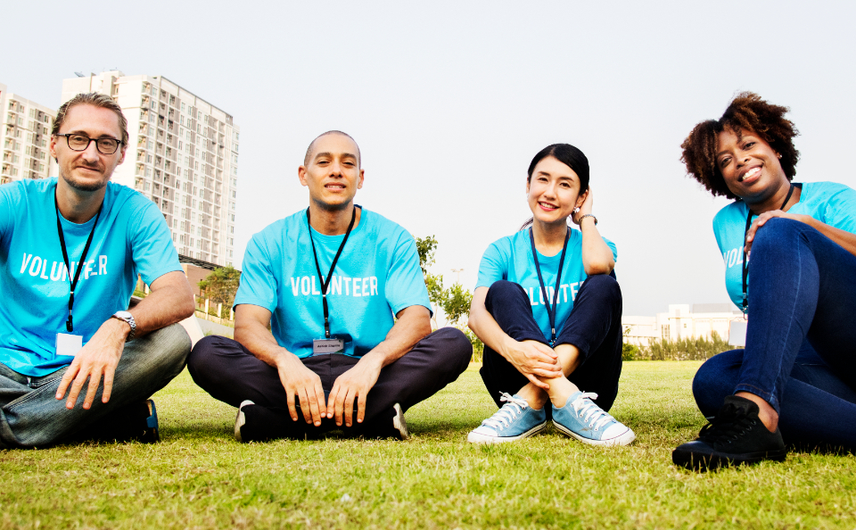 american blue charity cheerful communication community community service connection diverse donation european friends friendship grass group happiness humanity japanese man moral ngo non profit
