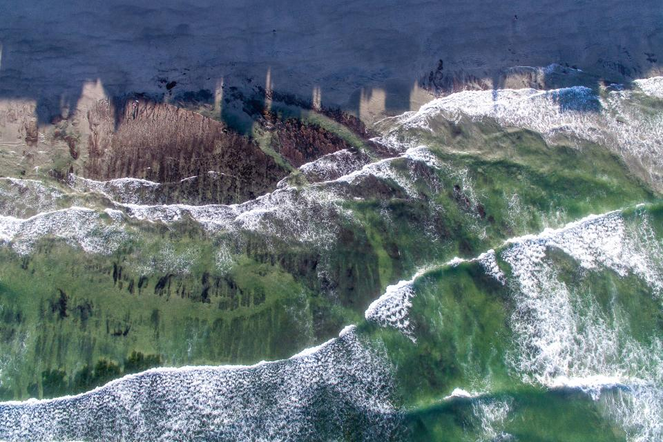 sea ocean water waves nature aerial view