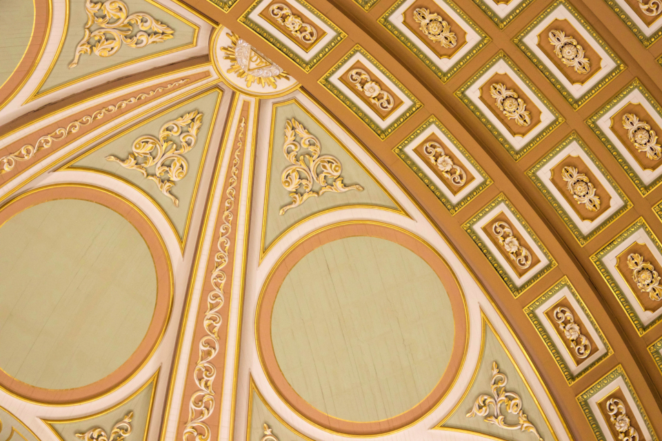 architecture abstract arches symmetry design arch curve background building interior circles ceiling