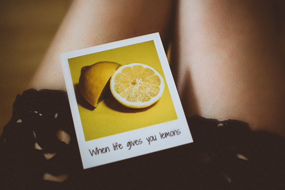 life lemon photograph woman girl female legs short skirt sliced fruit people