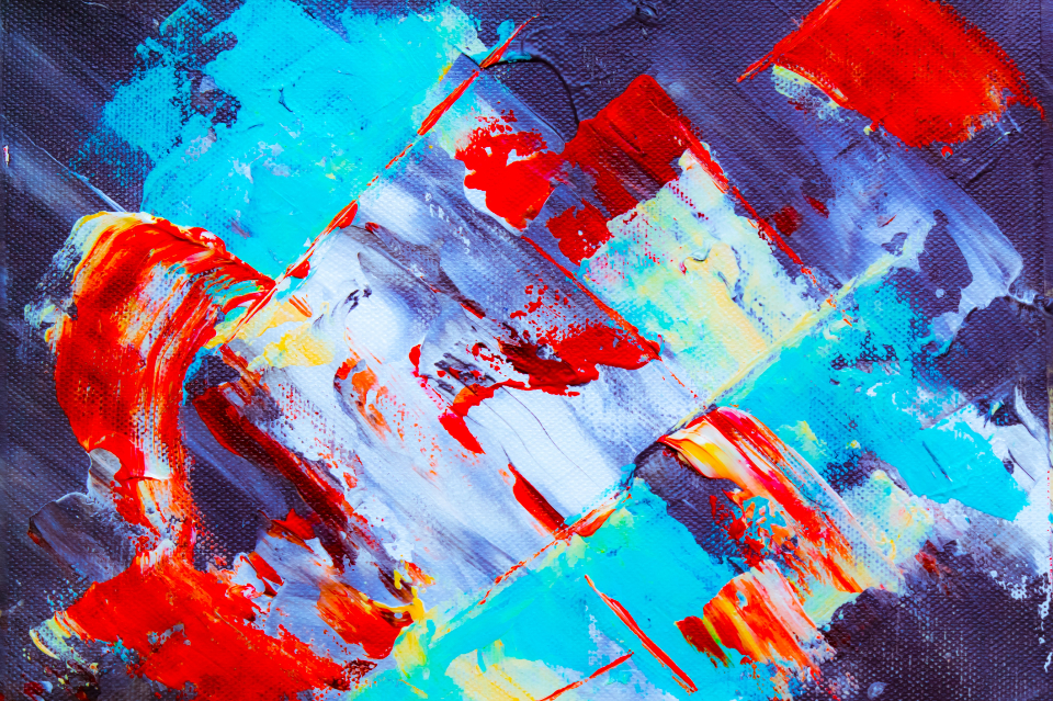 abstract art paint canvas close up colorful creative design artist brush brushstroke acrylic oil