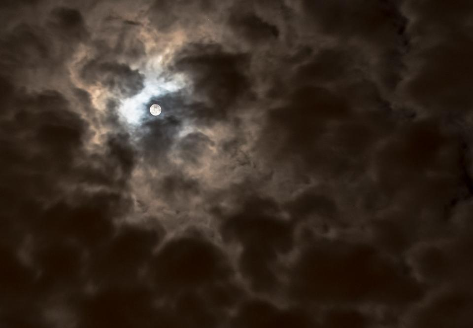 moon dark night photography space clouds sky