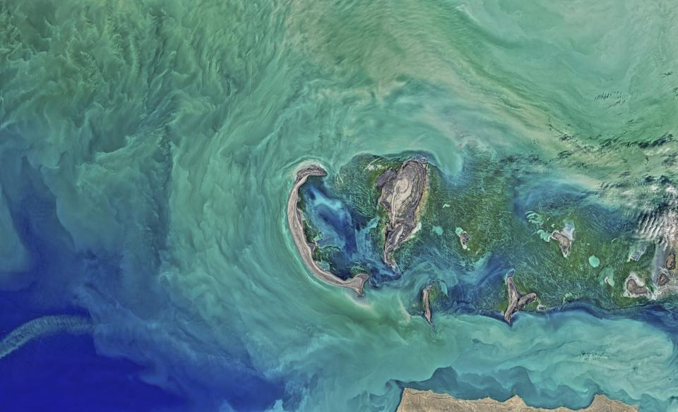 caspian sea water ocean space earth