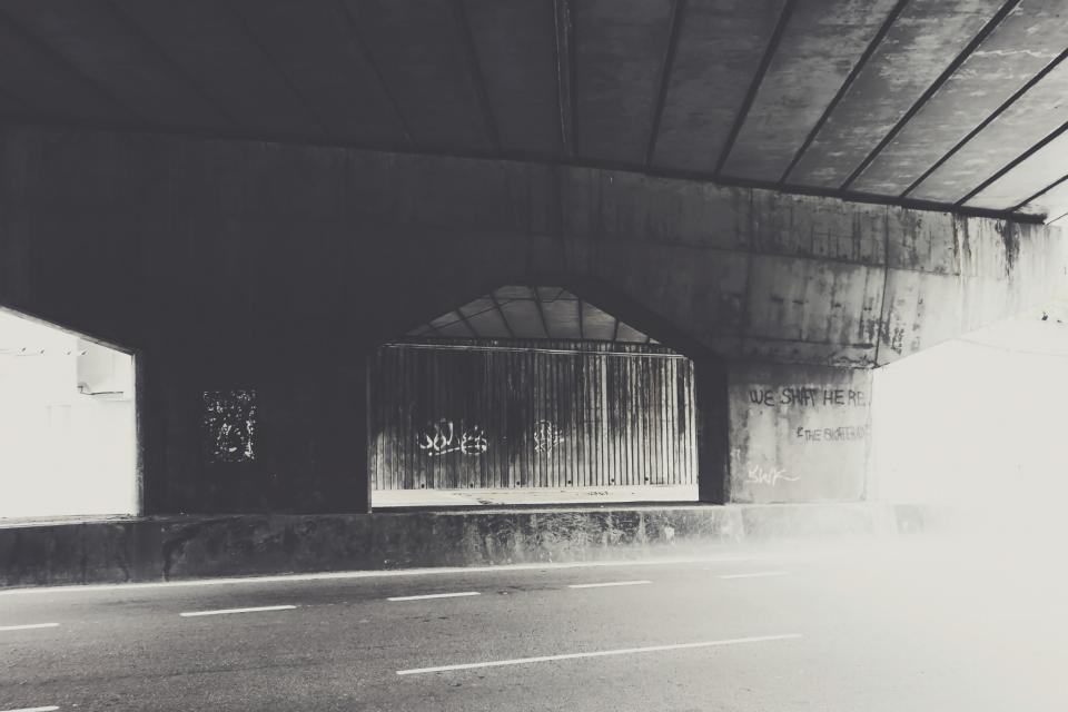 bridge grey traffic highway movement abstract moody overpass city urban