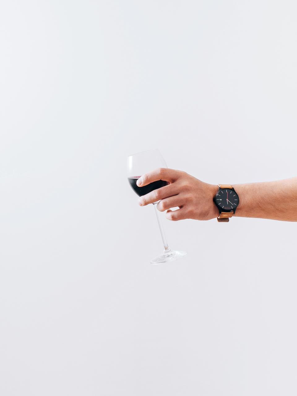 wine glass alcohol drink hands watch white