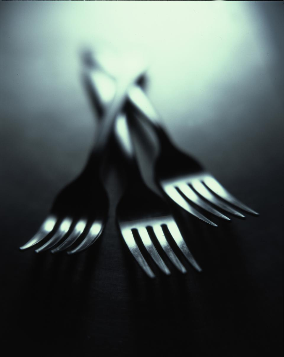 forks utensils dark