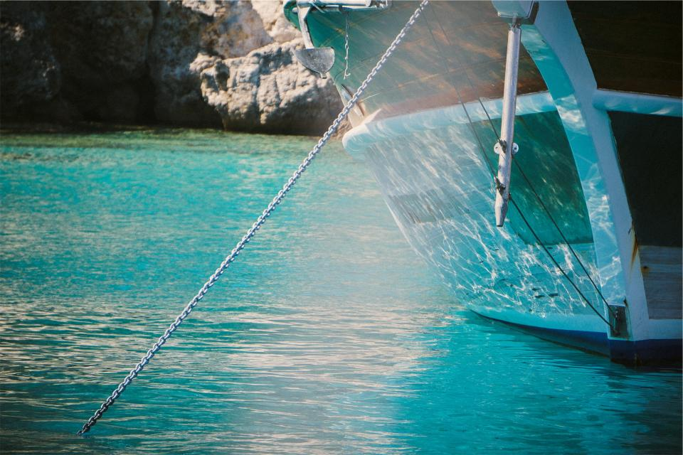 boat anchor tropical water chain