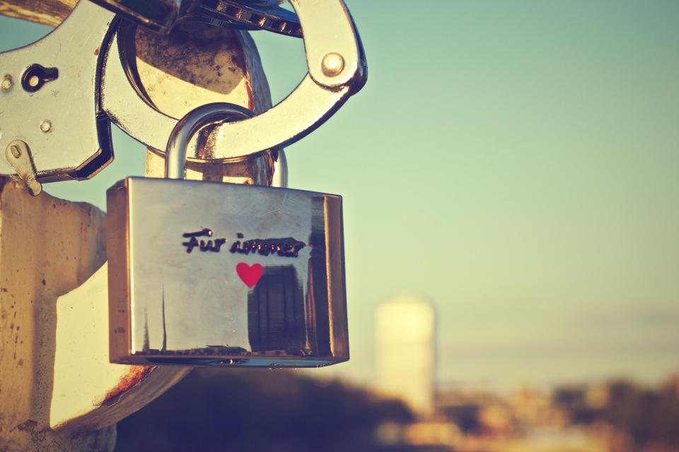 lock heart love