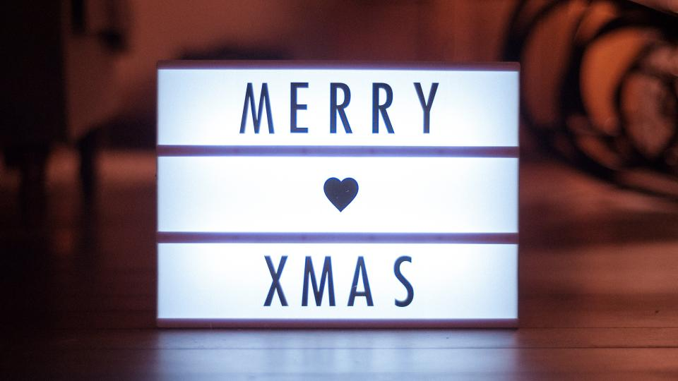 christmas day furniture wooden shiny floor signage text