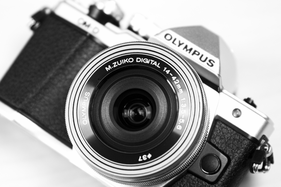 olympus black & white camera vintage retro lens technology film