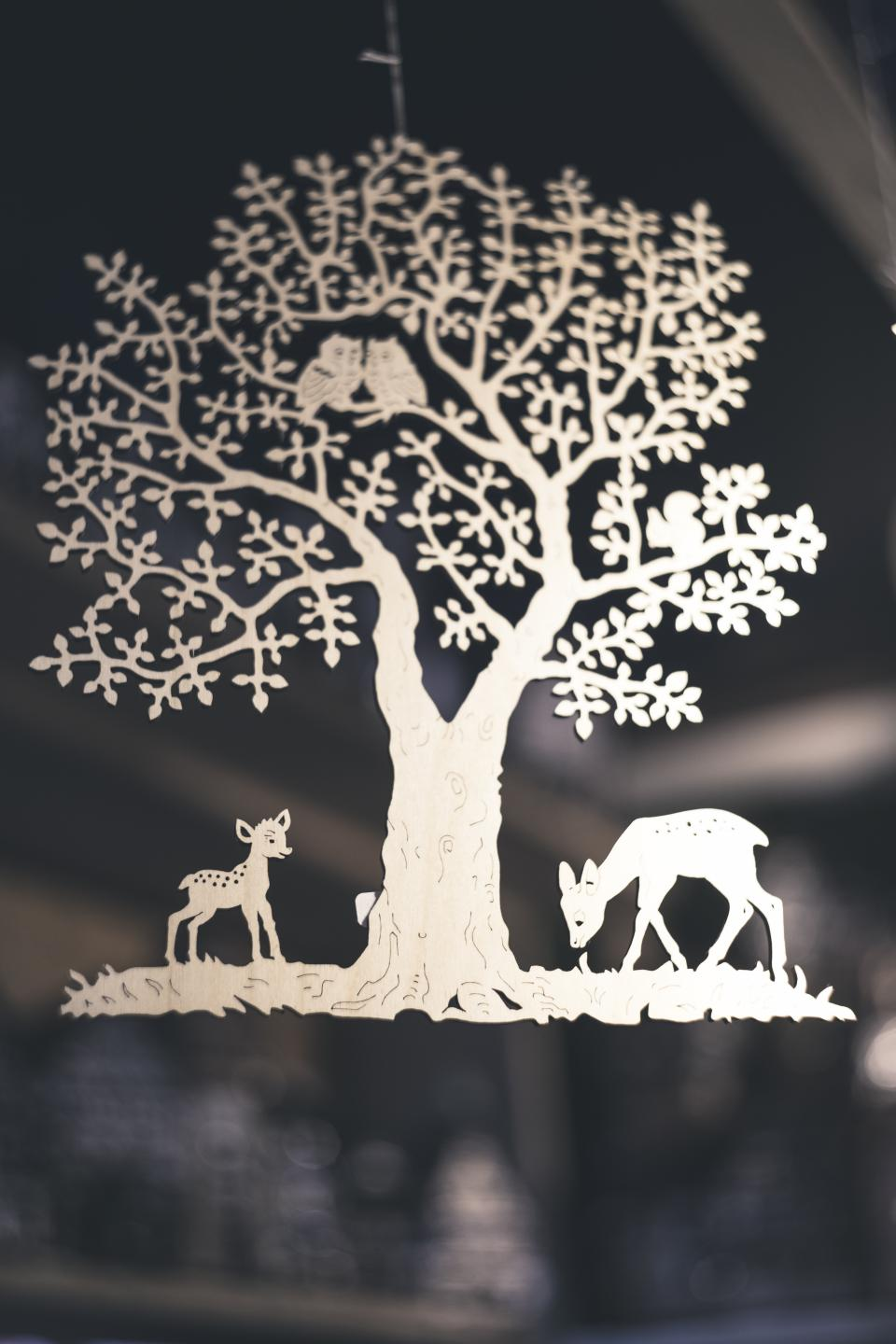 animal tree nature bird deer sticker art blur room