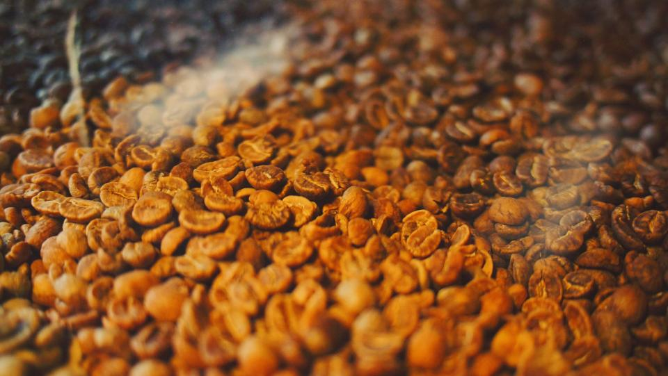 coffee beans roasted roasting