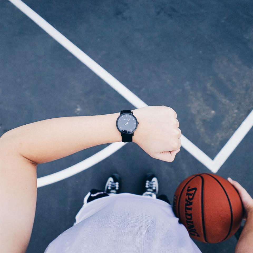 basketball sport play game people kid boy shoes watch arm