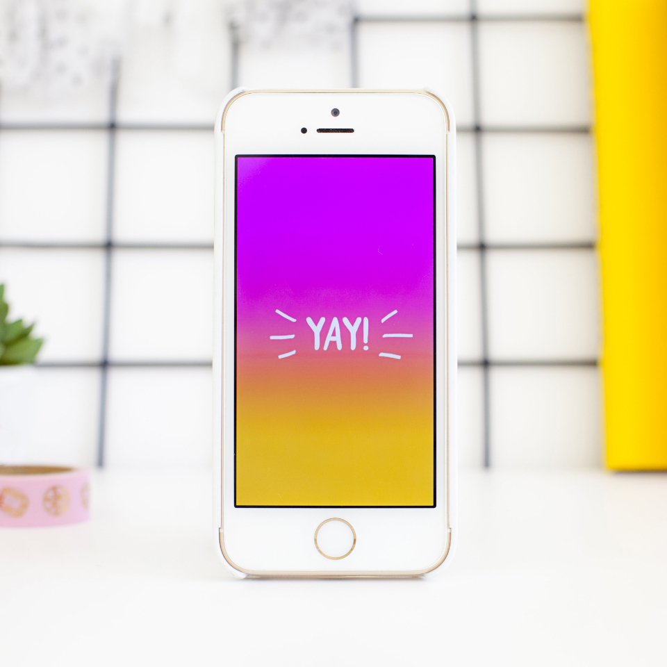 mobile phone screen happy concept colorful bright minimal creative design communication technology device iphone