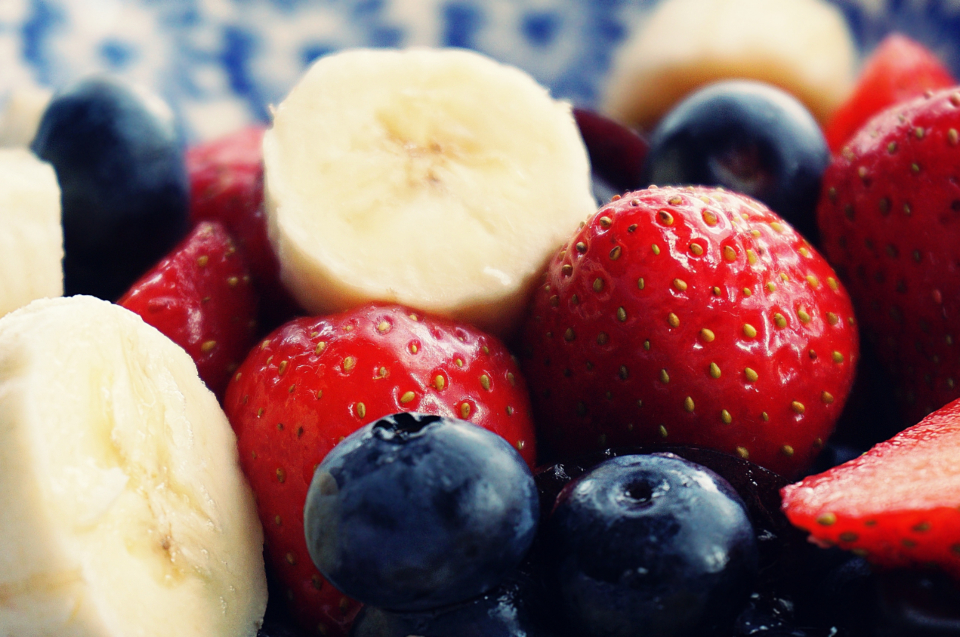 strawberries blueberries banana fruit berries eating healthy healthy food food raw food