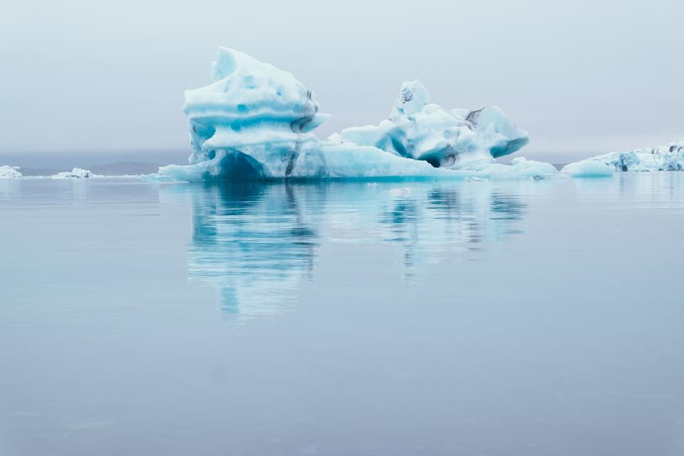 sea ocean water nature ice iceberg reflection