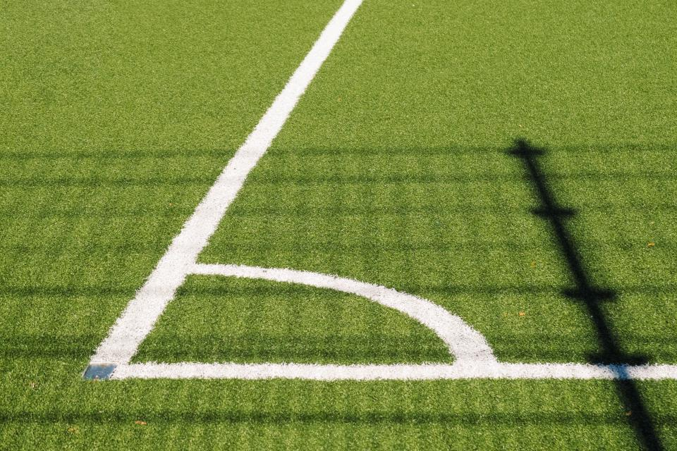 soccer field sports grass green shadow sunshine summer fitness