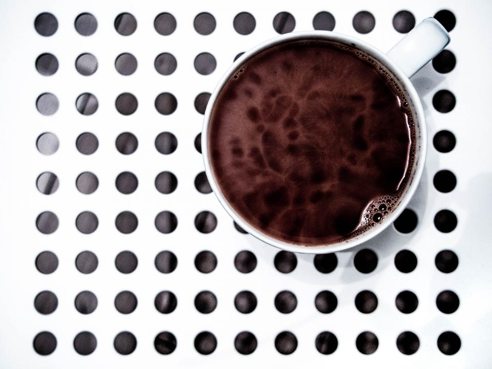 coffee cup mug circles drink black and white