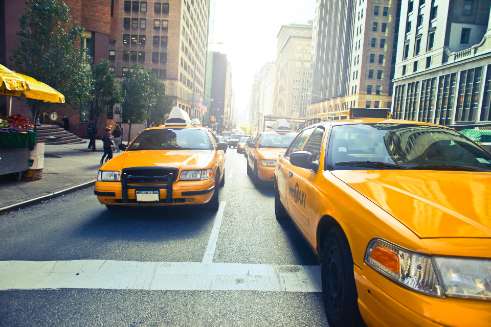 new york yellow cab street city building car transport taxi taxi cab