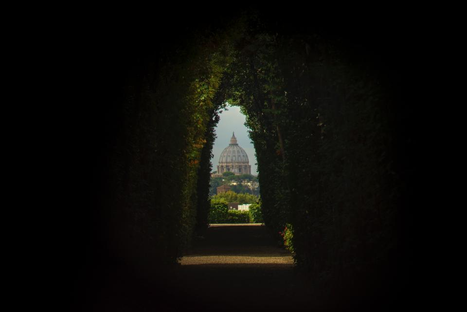 architecture building infrastructure alley green plant church cathedral basilica view nature
