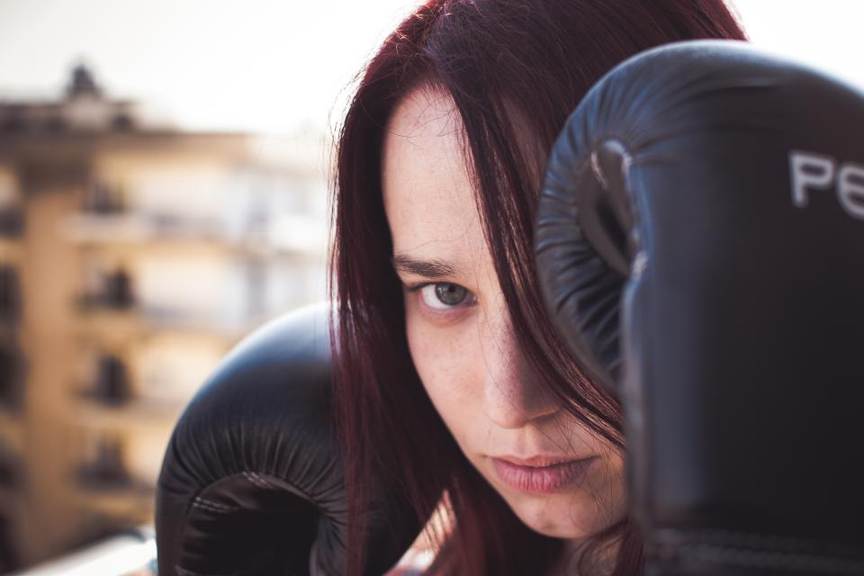 people woman boxing sport hobby