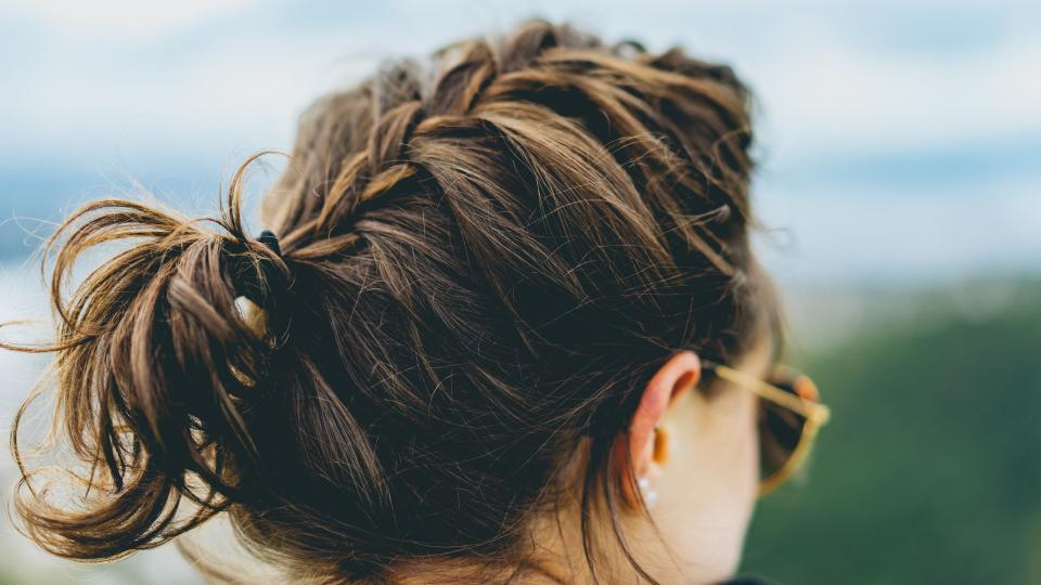 people woman girl sunglasses hairstyle braided