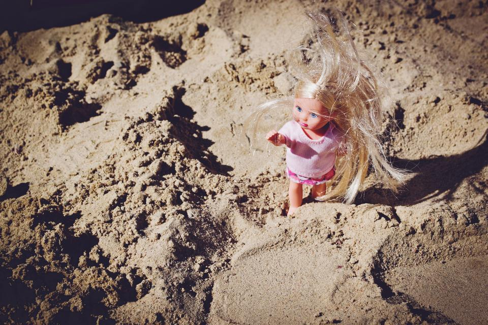 beach sand summer doll toy girl