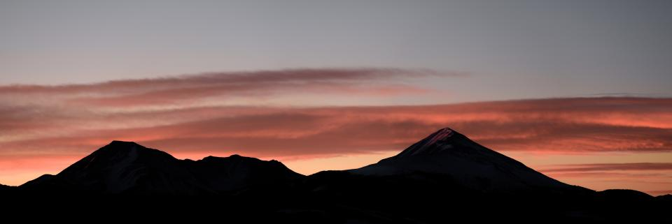 cloud sky sunset silhouette mountain landscape valley nature
