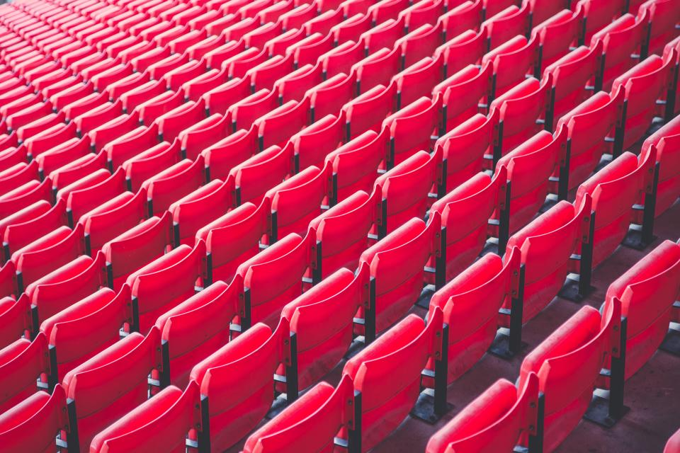 red seats chairs stadium seating