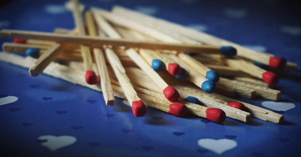 matches macro match blue red fire strike wood stick background