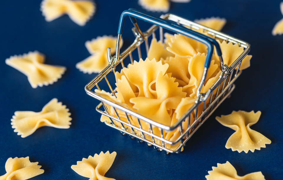 food pasta background basket blue carbohydrate classical close up closeup cooking cuisine culinary dry food gourmet groceries ingredient italian italy kitchen macaroni menu mini miniature navy nutrition product raw r