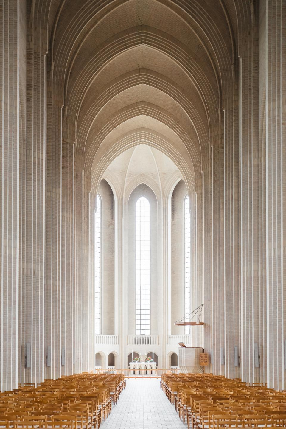 architecture building infrastructure church cathedral chairs altar mass