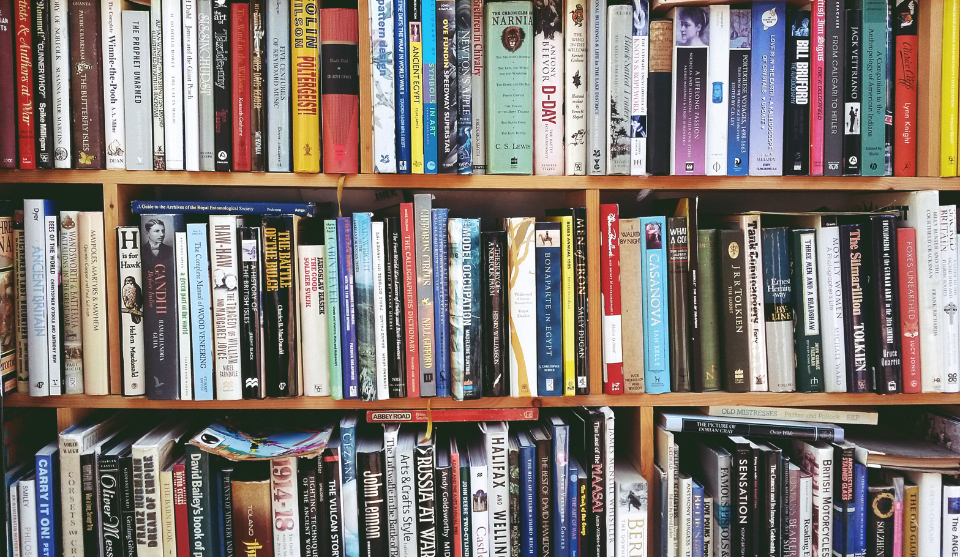 books library shelves store literature reading novel history grammar study learn education