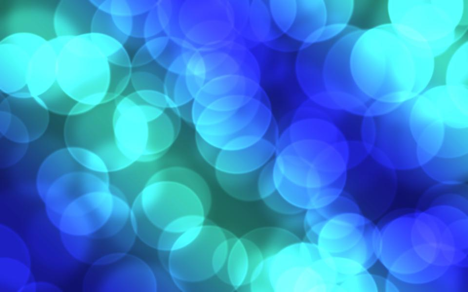 blue lights bokeh blur