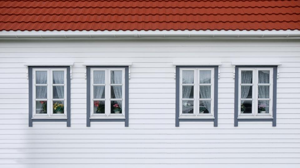 windows house home white red roof woods wall curtain flowers aesthetic